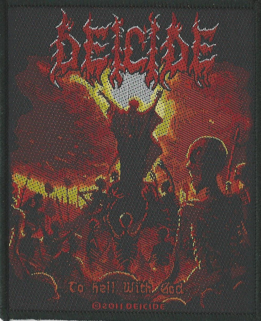 Deicide-To Hell With God Woven Patch
