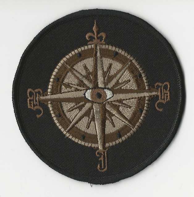 Big John Bates-Compass Embroidered Patch