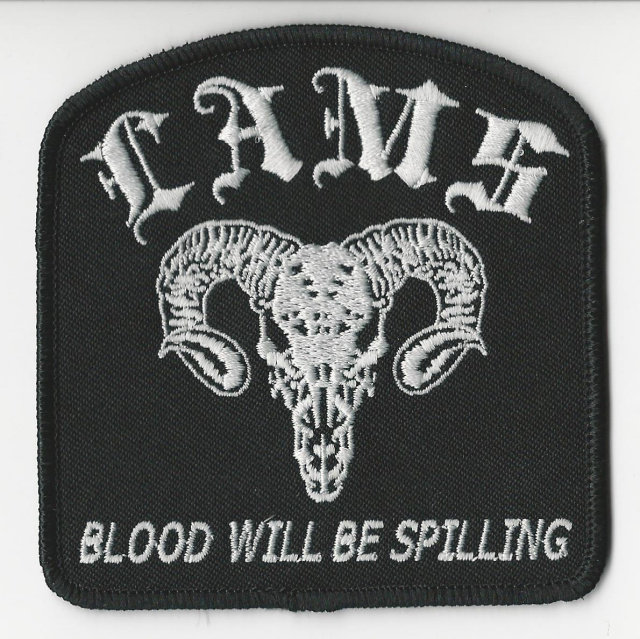 L.A.M.S- Blood Will Be Spilling Patch