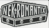Nekromantix-Coffin Logo Embroidered Patch Black and White